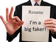 90% din CV-urile romanilor, pline de minciuni