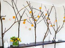 Cum sa creezi un decor inedit de perete cu crengi de copac