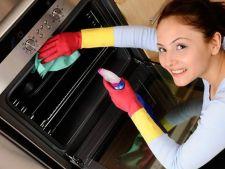 Ponturi pentru a curata perfect cuptorul aragazului si cuptorul cu microunde