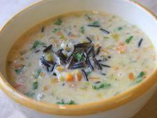 Supa de pui cu orez salbatic