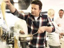 Bucatari celebri - Jamie Oliver - Invata sa prepari linguini cu file de herring in stil mediteranean