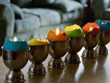 Creeaza-ti propriile decoratiuni: oua-lumanare pentru masa de Paste