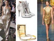 Auriu si argintiu, culori stralucitoare pentru o vara fashion