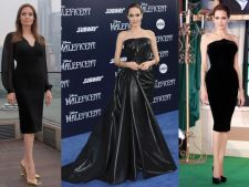 Invata de la Angelina Jolie cum sa porti cu stil rochia neagra