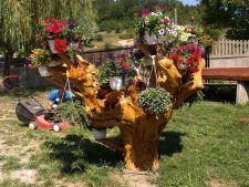 Vrei o gradina ca in basme? Foloseste suporturi rustice pentru flori!