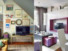Televizorul, piesa in jurul careia creezi decorul