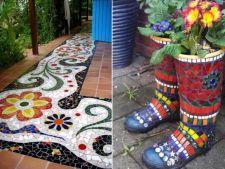 Da culoare curtii si gradinii folosind mozaicul