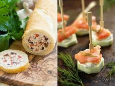 Doua aperitive pentru masa de Craciun, gata in 10 minute