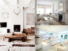 Decor de iarna: casa alb imaculat