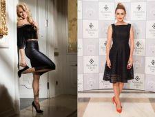 Vedete in tinute all black. Laura Cosoi sau Alina Sorescu?