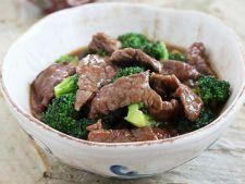 Carne de vita si broccoli cu sos chinezesc