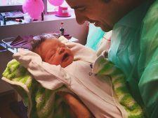 Prima fotografie cu fetita lui Cornel Ilie! Topul  barbatilor celebri care au devenit tatici in 2015