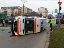 accident ambulanta rasturnata