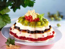 Budinca cu fructe de padure, preparata in casa