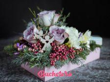 Buchete si aranjamente cu flori de Craciun si Anul Nou