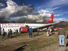Avion cu 141 de pasageri a luat foc in timpul aterizarii! VIDEO