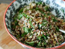 salata de orez salbatic cu muguri de pin si ierburi aromatice