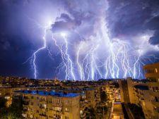 Trafic paralizat in Capitala, in urma avertizarii de furtuna