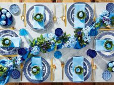 masa paste alb albastru
