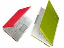 Pink Green Asus Eee PC