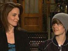 Justin Bieber si Tina Fey