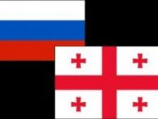 563786 0812 Russia and Georgia flags ziare