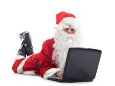 Santa cu laptop