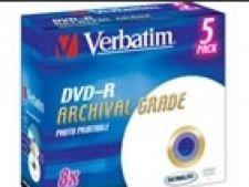 Archival Grade DVD-R 8x