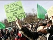 protest autostrada polonia