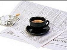 ziar cafea tigara